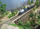 Wooden railway bridge