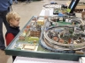 Thomas & Gayle, 3 tables full of trains!