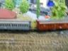 Preussen steam passenger train  on wooden root track