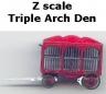 Z scale Triple Arch Den