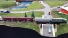 GVR GP35 pulling freight over GVR bridge