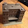 City Apartment building w/roof top pieces