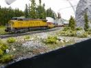 UP Dash 9 container train