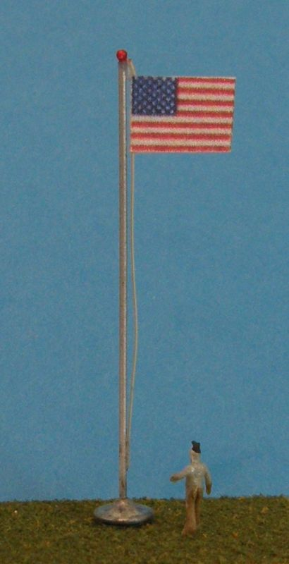 40 ft. flag pole with flag.