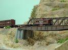 Staged bridge and caboose shots