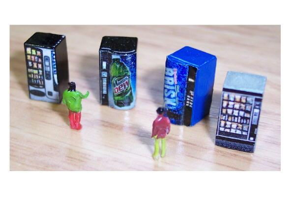 Z scale vending machines